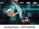 add to cart internet web store...   Shutterstock . vector #699160048