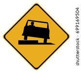 low shoulder sign isolated on a ... | Shutterstock .eps vector #699169504