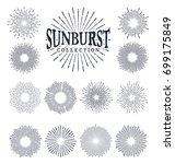 sunburst element vector... | Shutterstock .eps vector #699175849