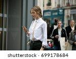 paris october 2  2016. top... | Shutterstock . vector #699178684
