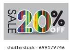 abstract sale baner. sale 20... | Shutterstock .eps vector #699179746