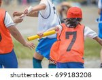 athletic meet of the elementary ... | Shutterstock . vector #699183208