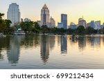 business district cityscape... | Shutterstock . vector #699212434