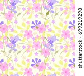 floral pattern. seamless wild... | Shutterstock .eps vector #699219298