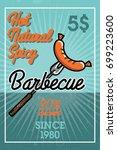 color vintage barbecue banner | Shutterstock .eps vector #699223600