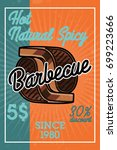 color vintage barbecue banner | Shutterstock .eps vector #699223666