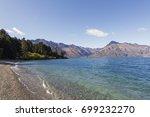 lake wakatipu on the queenstown ... | Shutterstock . vector #699232270