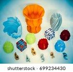 models printed by 3d printer.... | Shutterstock . vector #699234430