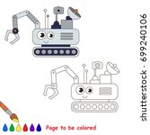 lunar rover to be colored  the... | Shutterstock .eps vector #699240106
