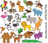 safari wild animals elements... | Shutterstock .eps vector #699240706