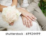 bride and groom holding each... | Shutterstock . vector #69924499