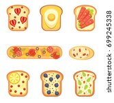 set toasts and sandwich... | Shutterstock . vector #699245338