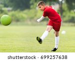 kids soccer football   young...   Shutterstock . vector #699257638