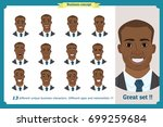 face expressions of a man...   Shutterstock .eps vector #699259684