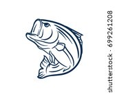 fish jump vector | Shutterstock .eps vector #699261208