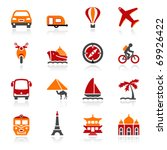 travel icons. color series | Shutterstock .eps vector #69926422