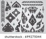 set of thai art element ... | Shutterstock .eps vector #699275044