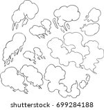 illustration smoke | Shutterstock .eps vector #699284188