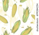 corn graphic color seamless... | Shutterstock .eps vector #699284254