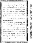 vintage text on old paper print.... | Shutterstock . vector #699284740