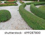 walkway in the garden | Shutterstock . vector #699287800