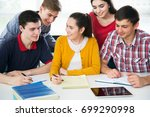 group of young students...   Shutterstock . vector #699290998