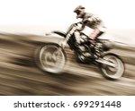 championship of motocross  side ...   Shutterstock . vector #699291448