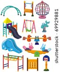 cartoon park playground icon | Shutterstock .eps vector #69929881