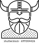 viking outline icon | Shutterstock .eps vector #699304426