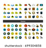 set of icons in different style ... | Shutterstock .eps vector #699304858