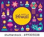 diwali hindu festival greeting... | Shutterstock .eps vector #699305038