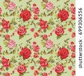 elegance spring seamless... | Shutterstock . vector #699306556