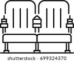 cinema seat outline icon | Shutterstock .eps vector #699324370