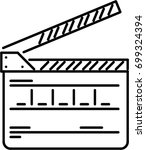 clapperboard outline icon | Shutterstock .eps vector #699324394