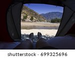 view from tourist tent inside... | Shutterstock . vector #699325696
