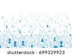 social communications concept.... | Shutterstock .eps vector #699329923