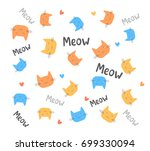 vector pattern with... | Shutterstock .eps vector #699330094