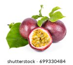 passion fruit on a white... | Shutterstock . vector #699330484