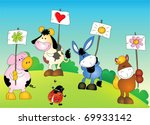 Cheerful Drawing Pets