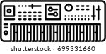 synthesizer outline icon | Shutterstock .eps vector #699331660