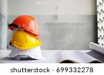 hard safety helmet hat for... | Shutterstock . vector #699332278