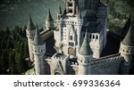 old fairytale castle on the... | Shutterstock . vector #699336364