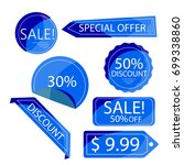 collection blue discount... | Shutterstock .eps vector #699338860