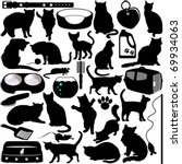 Silhouettes Vector Of Cats ...