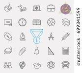 education line icon set | Shutterstock .eps vector #699341599