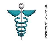 medicine symbol icon | Shutterstock .eps vector #699345688