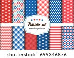 cute set of american patriotic... | Shutterstock .eps vector #699346876