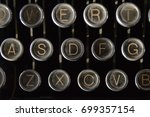 Dusty Old Manual Typewriter Keys
