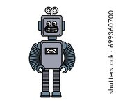 robot toy isolated icon | Shutterstock .eps vector #699360700