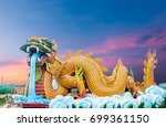 big dragon on the background...   Shutterstock . vector #699361150
